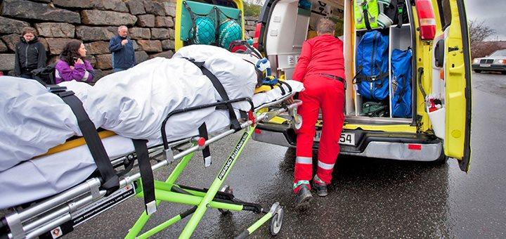 La brûlure et l'ambulancier, prise en charge