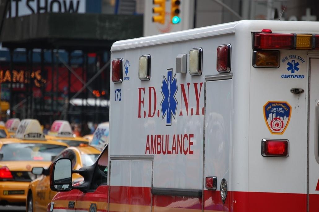 conduite d'une ambulance avec patient à bord