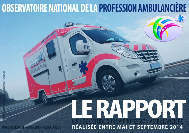 ONPA : le rapport issu de l'étude sur la profession ambulancière est arrivé