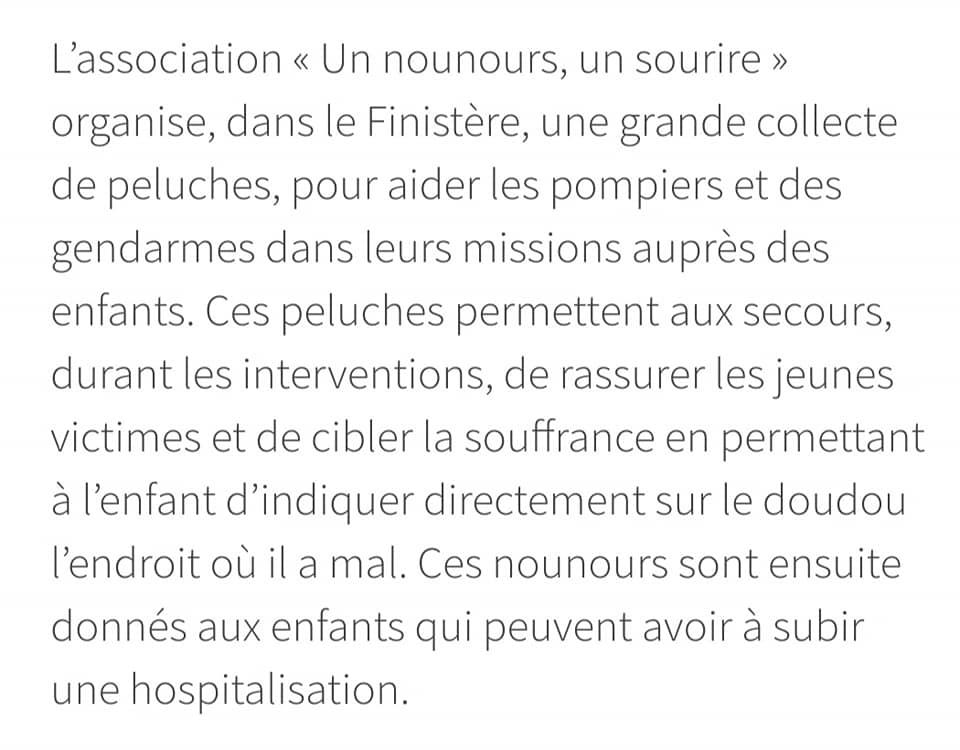 80835824 136159121170490 2218035465158656000 n L' Ambulancier : le site de référence Un Nounours Un Sourire