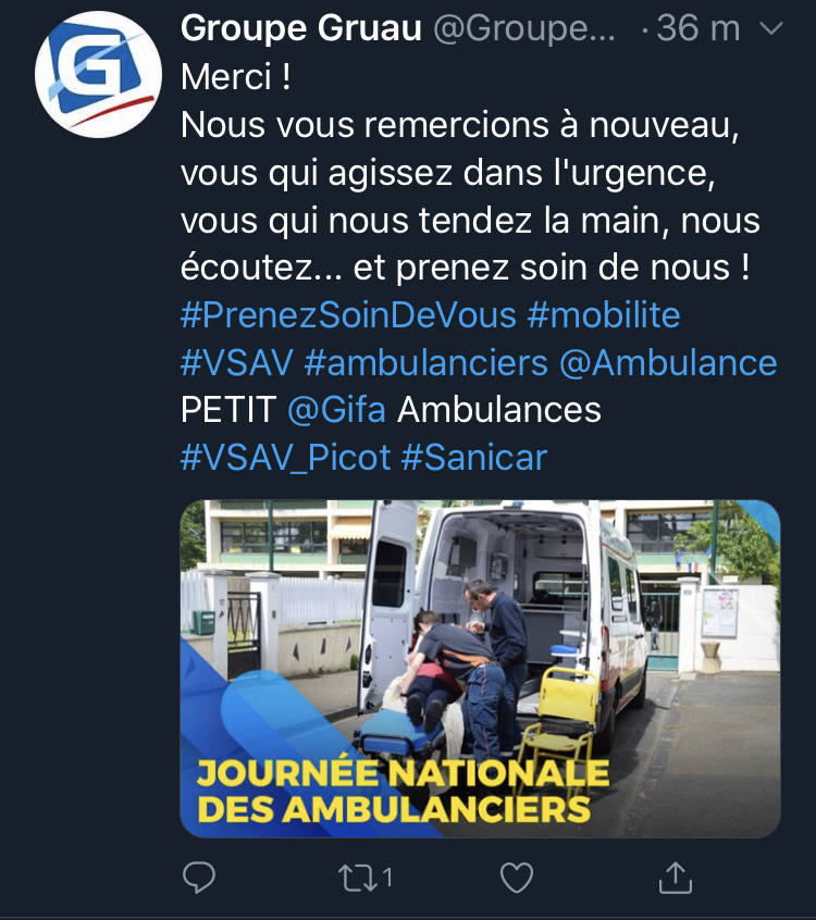 tweet 1 L' Ambulancier : le site de référence Journée nationale des ambulanciers le récap'