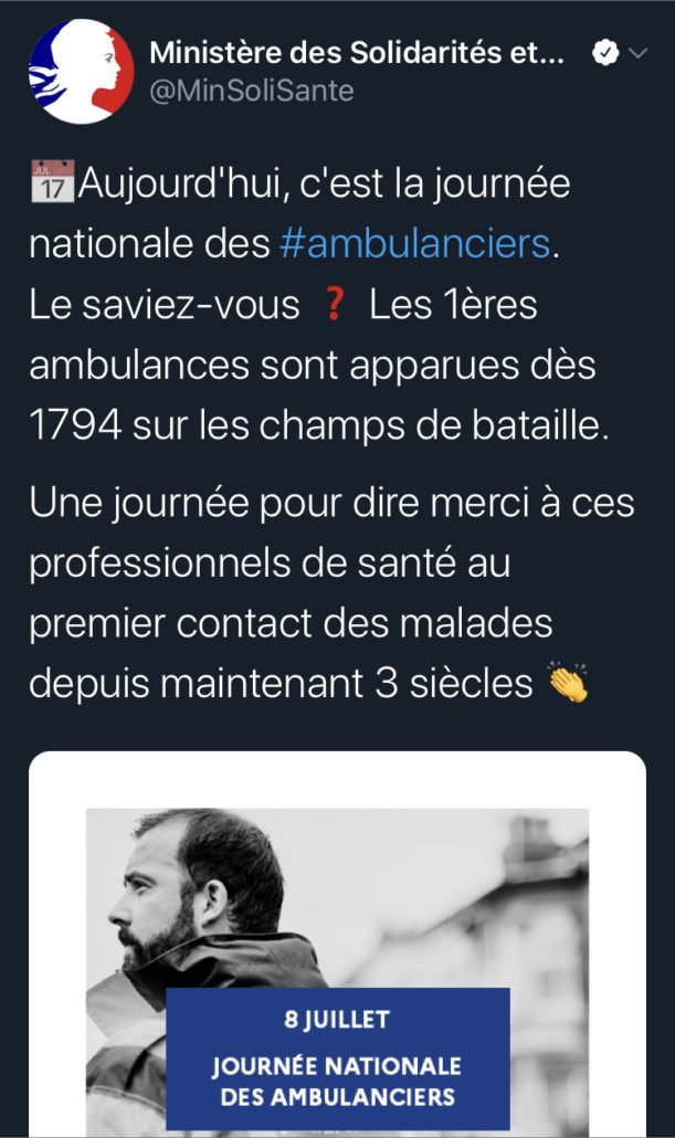 tweet 2 L' Ambulancier : le site de référence Journée nationale des ambulanciers le récap'