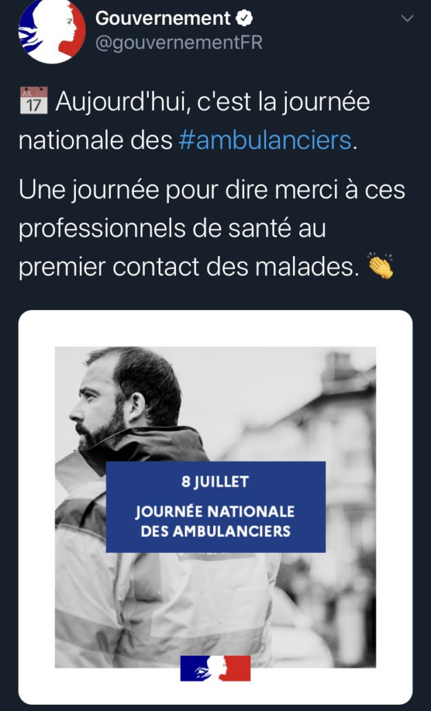 tweet 5 L' Ambulancier : le site de référence Journée nationale des ambulanciers le récap'